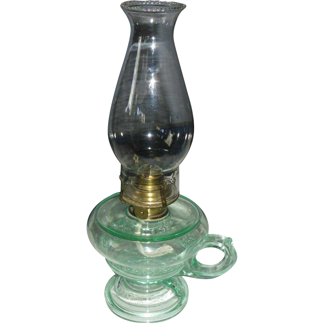 Aquarius Footed Kerosene Oil Hand Lamp / Finger Lamp
