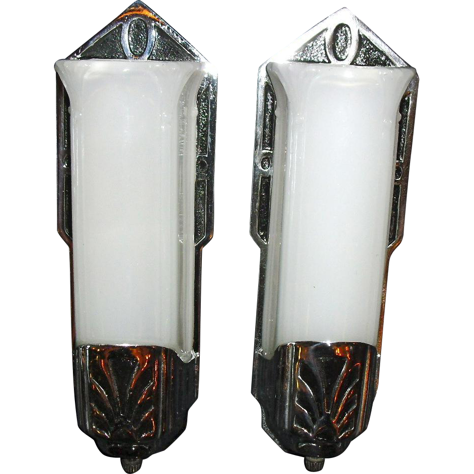 Moe Bridges Art Deco Machine Age Wall Sconces