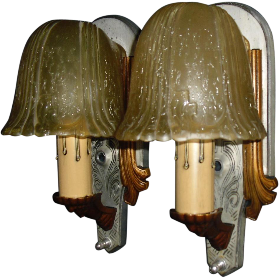 Riddle Art Deco Slip Shade Wall Sconces