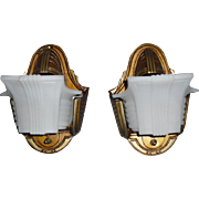 Gill Art Deco Slip Shade Wall Sconces