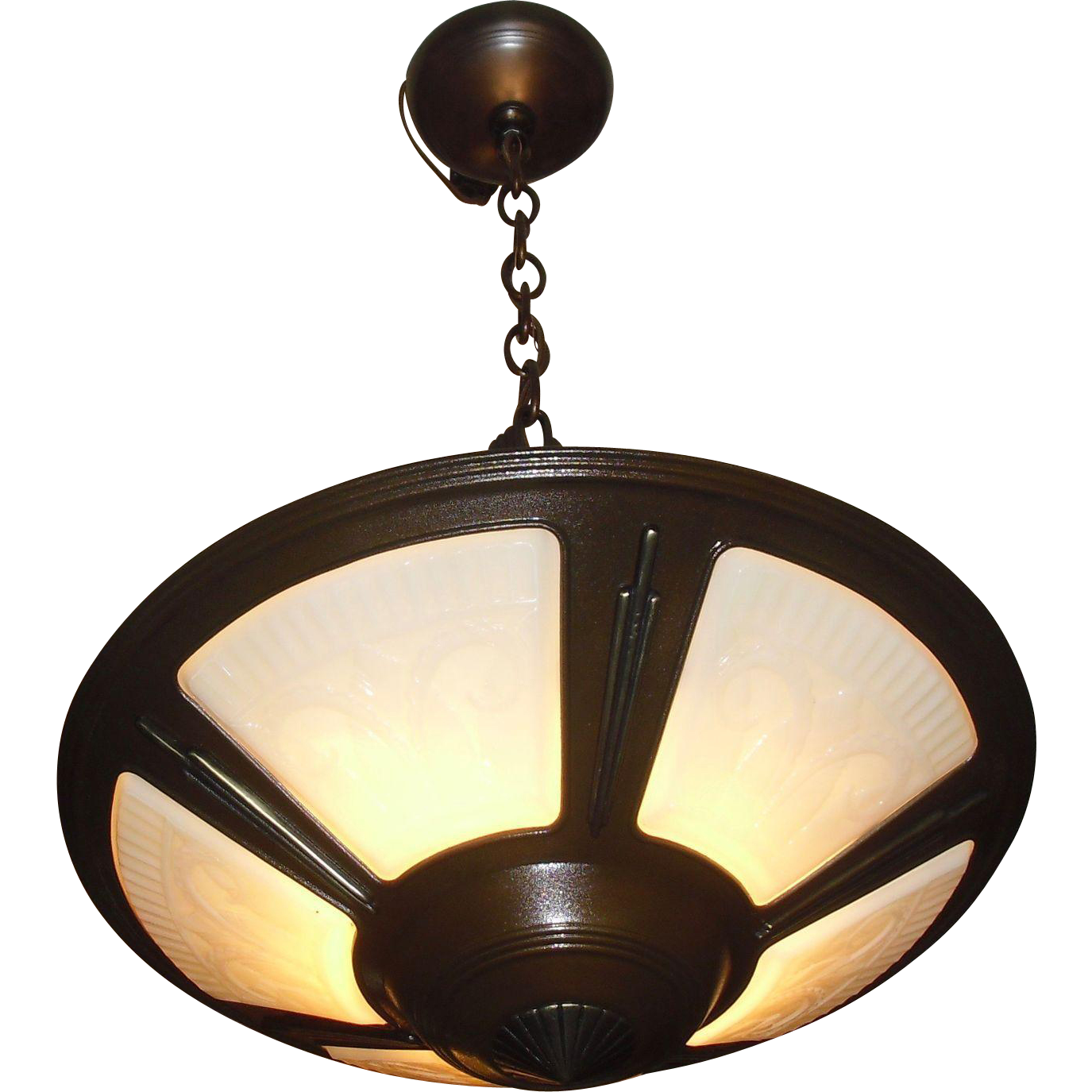 Virden Art Deco 5 Light Pendant Chandelier