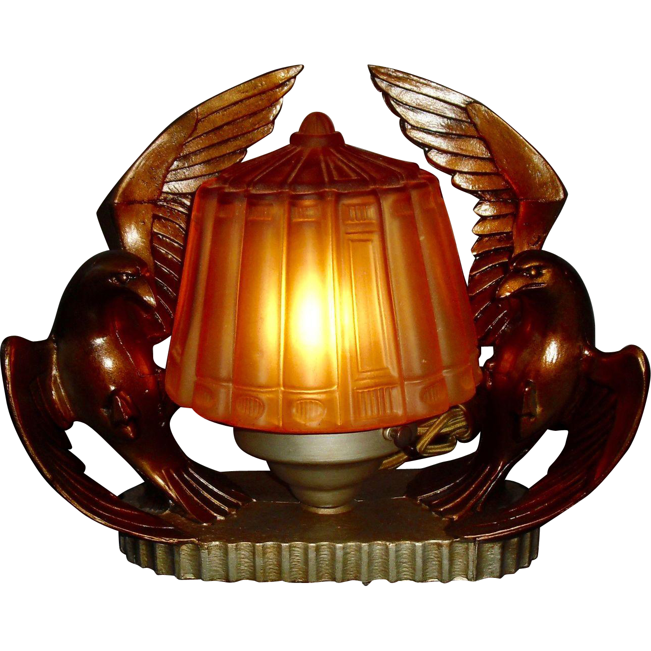 Vintage Seagull Novelty Lamp / Mantle Light