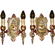 Lincoln Spanish Galleon Ship Sconces - Aluminum with Polychrome Finish