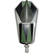 Art Deco Decorated Porcelain Wall Sconce