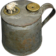 Early Tin Whale Oil or Fluid Lamp