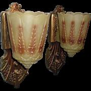 Lincoln Art Deco Slip Shade Sconces