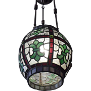 Victorian Leaded Glass Pendant Light