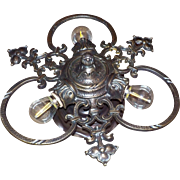 3 Light Cast Bronze Flush Mount Ceiling Fixture