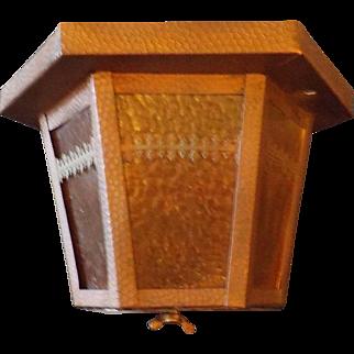 Arts and Crafts Copper Hexagonal Ceiling Light / Porch Light