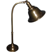 Greist Mfg Adjustable Brass Desk Light / Lamp
