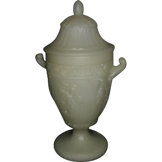 Northwood Cast Glass Urn Lamp with Dancing Ladies