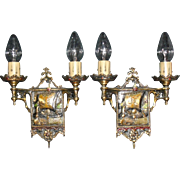 Spanish Revival Ship Sconces - Original Finish - 2 pair available