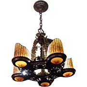 Williamson Art Deco 5 Light Chandelier