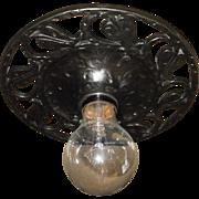 Tudor Small Cast Iron Flush Mount Ceiling Light Fixture - 4 available