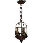 Spanish Revival 3 Light Bird Cage Pendant
