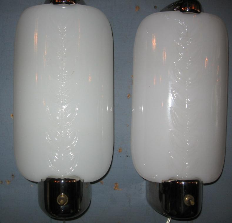 Art Deco Machine Age Fluorescent Wall Light