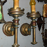 Spanish Revival Wall Sconces- Original Finish Monterey Style