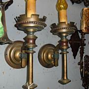Spanish Revival Wall Sconces- Original Finish Monterey Style