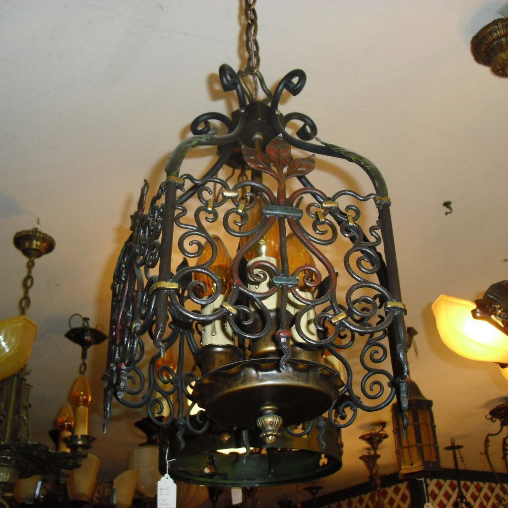 Spanish revival 3 light entryway chandelier sherlocks antique spanish revival 3 light entryway chandelier sherlocks antique lighting ruby lane arubaitofo Gallery