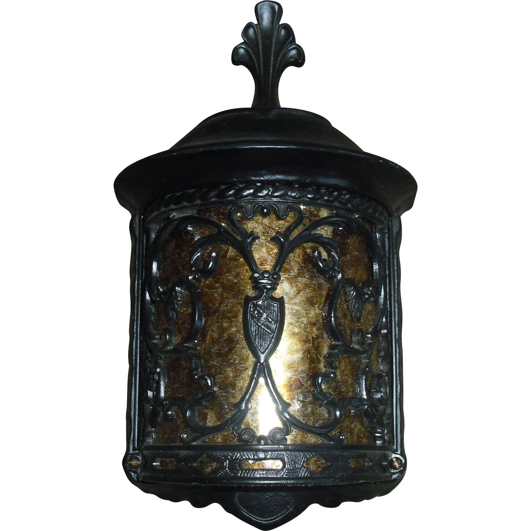 Spanish Revival Porch Light Fixture with Mica Panel - 5 available