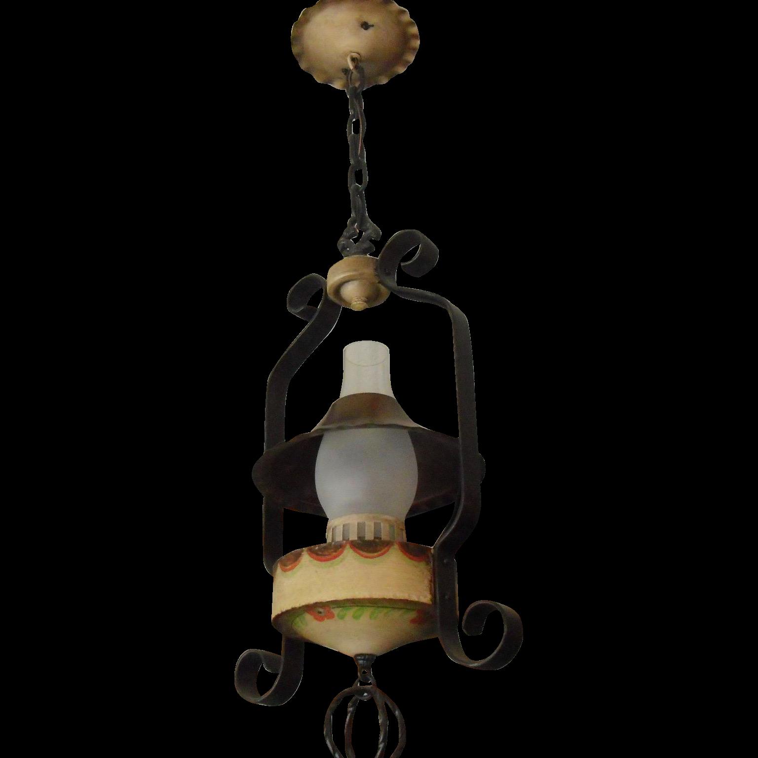 Monterey Style Iron Lantern Pendant Light - 2 available
