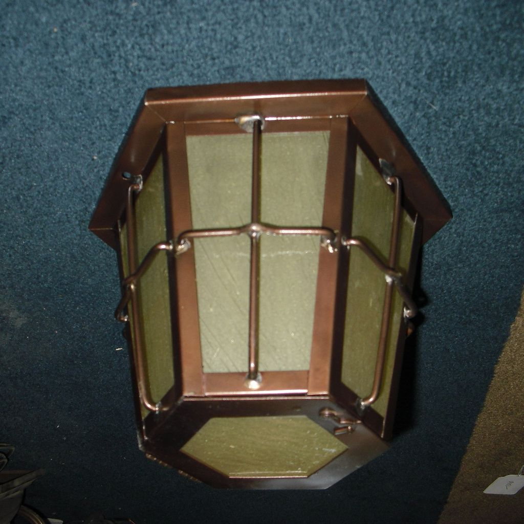 Arts & Crafts Flush Mounted Ceiling Porch Light Fixture : Copper