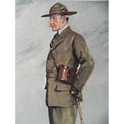 Original Vanity Fair Print ~ Military / Navy ~ Baden Powell ~ Boy Scouts ~ 1911