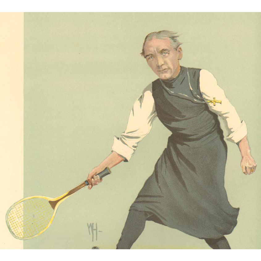 Original 1912 Vanity Fair Tennis Print~ Dr. Ingram , The Bishop of London