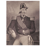 19th C Steel Engraving / Portrait of Admiral Sir Edmond Lyons