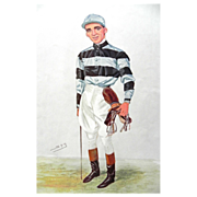 Original Vanity Fair / SPY Print ~ Jockey ~ Bernard Dillon ~ 1906