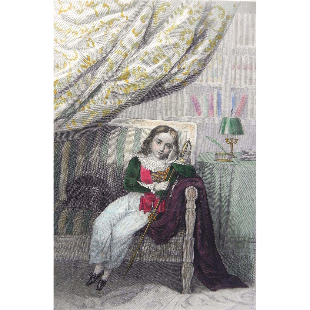 19th Century Hand-Colored Steel Engraving ~ Napoleon II ~ The King of Rome