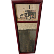 Vintage Fred Thompson Hand-Colored Photograph Mirror