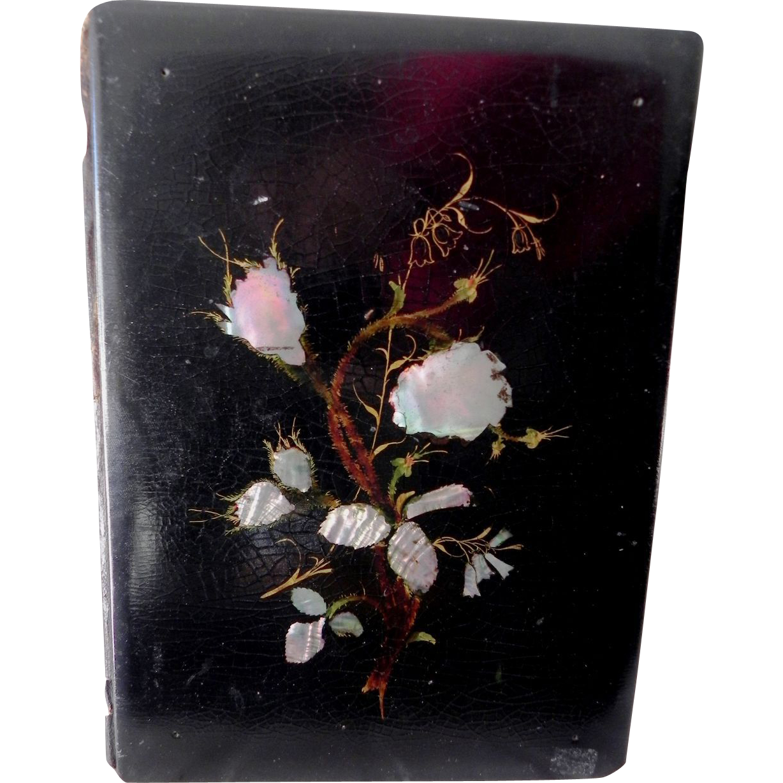 antique papier mache mother of pearl blotter from shopontheboulevard on ruby lane. Black Bedroom Furniture Sets. Home Design Ideas