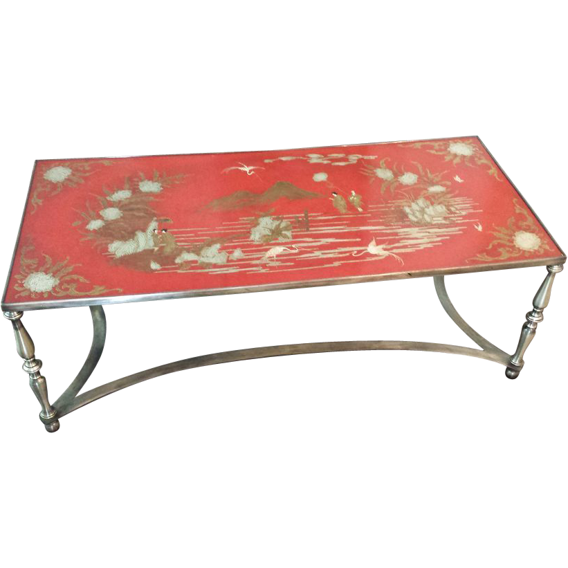 Vintage Trouvailles Chinoiserie Coffee Cocktail Table From Shopontheboulevard On Ruby Lane