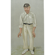 Original Vanity Fair / SPY Print ~Cricketer ~ Robert Abel ~ 1902