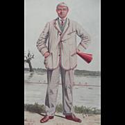 Original Vanity Fair Print ~ Rowing ~ Robert Henry Forster ~ 1910