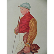 Original Vanity Fair Print ~Jockey ~ Frank Wootton~ 1909