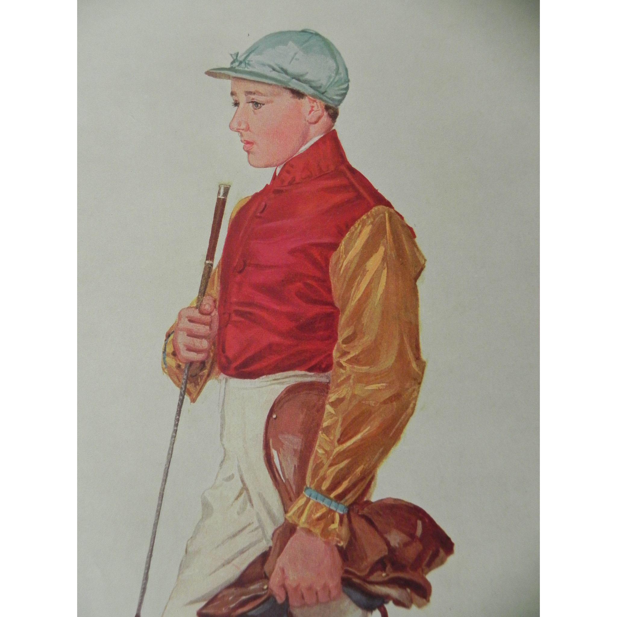 Original Vanity Fair Print ~Jockey ~ Frank Wootton~ 1909