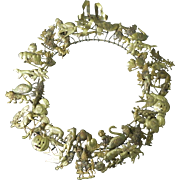 Vintage Petite Choses All Holiday Brass Wreath 16""