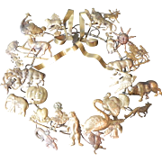 Vintage Petite Choses Holiday Brass Wreath 11""