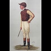 1887 Original Vanity Fair Jockey Print ~ George Barrett