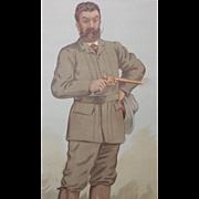 1893 Original Vanity Fair Game Hunter Print ~ Walter Winans