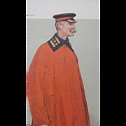 1906 Original Vanity Fair Military Print ~ Lt. Col. Anstruther - Thomson - Red Tag Sale Item