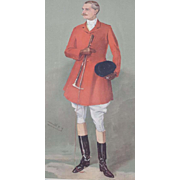 1907 Original Vanity Fair Fox Hunter Lord Southampton Print - Red Tag Sale Item