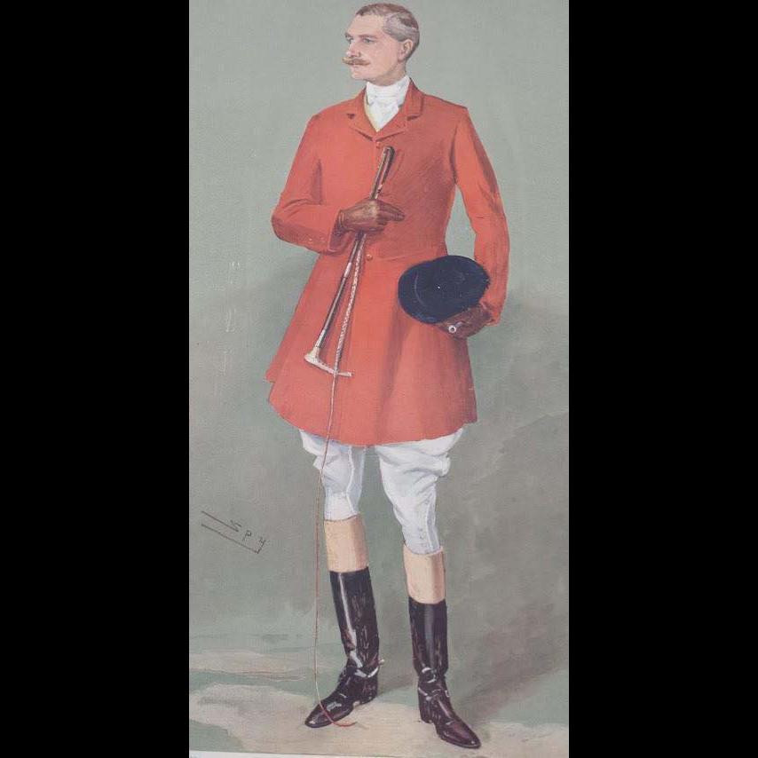 1907 Original Vanity Fair Fox Hunter Lord Southampton Print