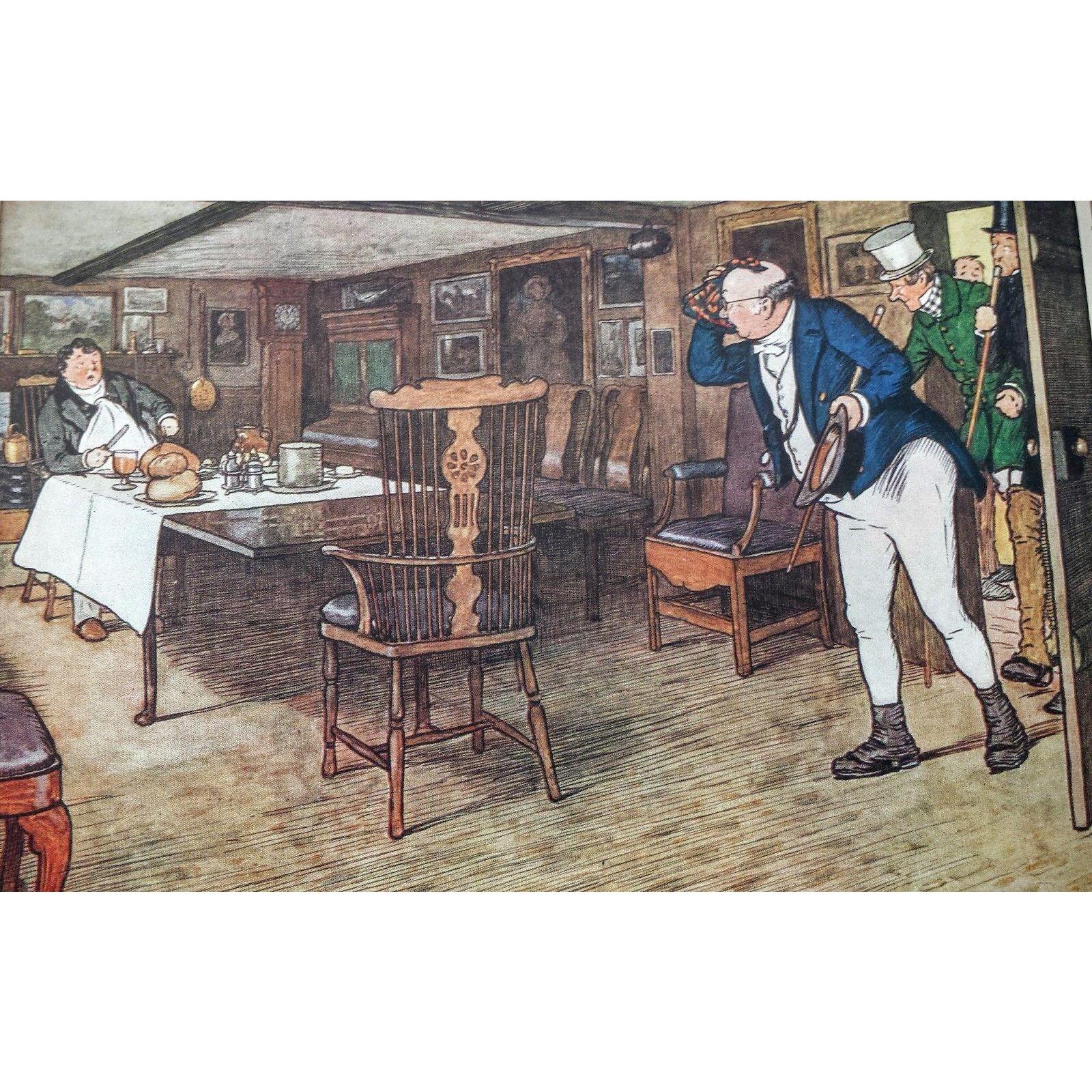 Set Vintage Cecil Aldin Pictures from Pickwick Prints ~ Original Matting