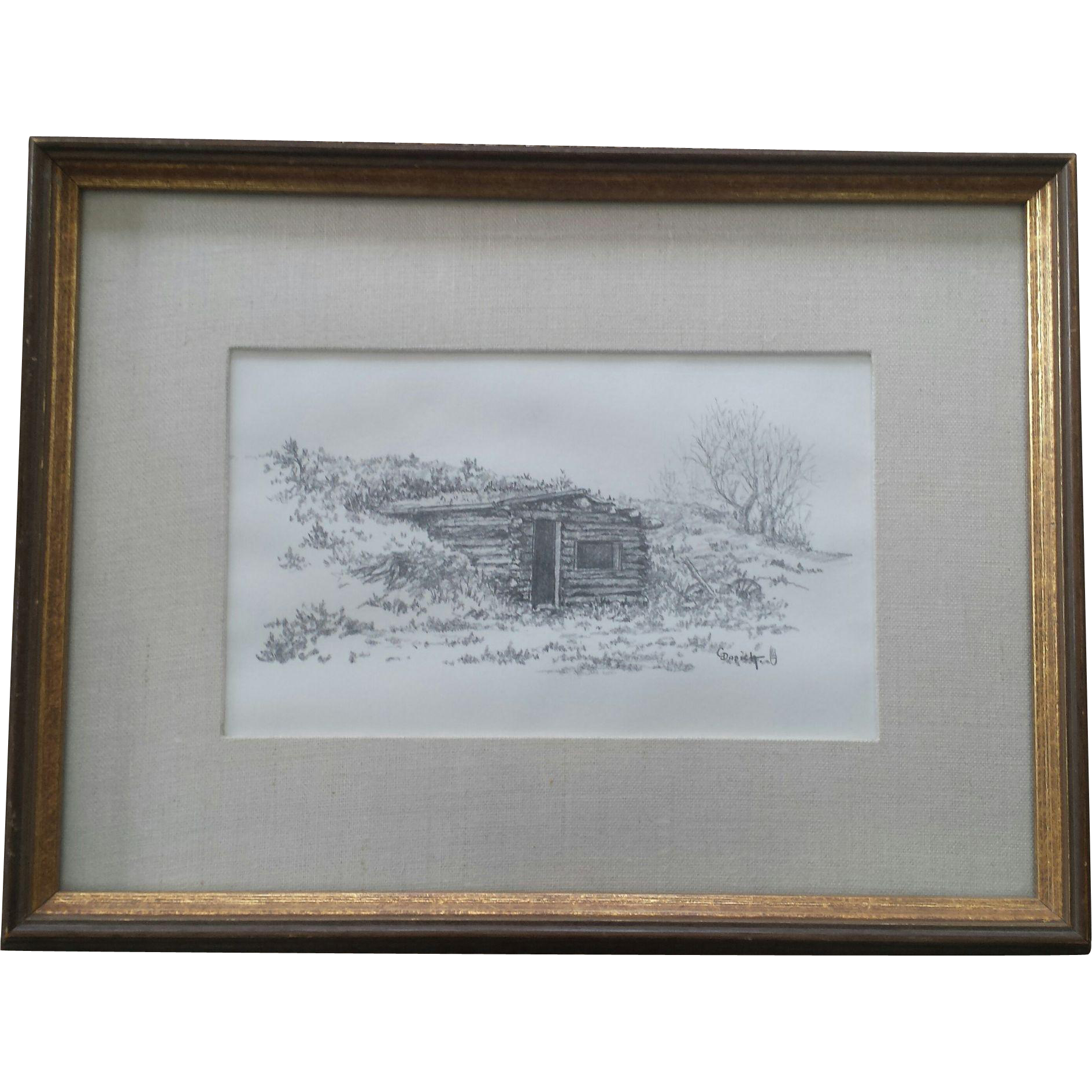 FIne George Dabich Pencil Drawing - The Dugout