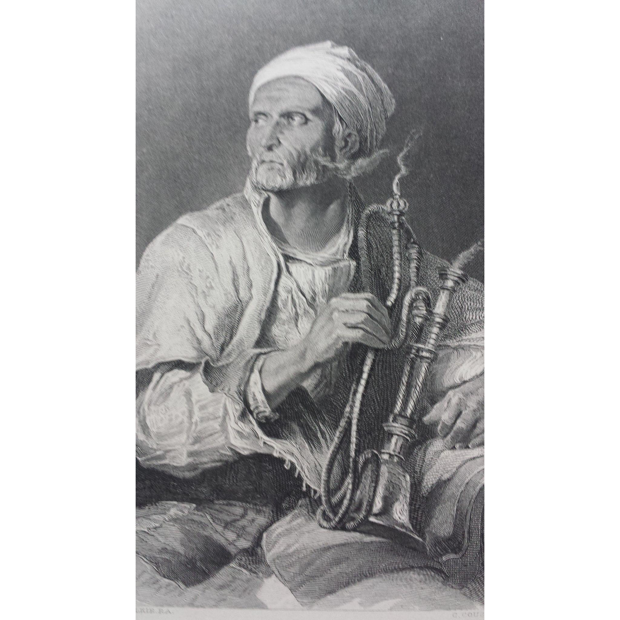 19th Century Engraving - The Hooka-Badar