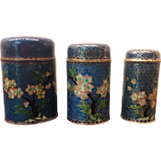 Vintage Chinese Cloisonné Enamel Nesting Boxes