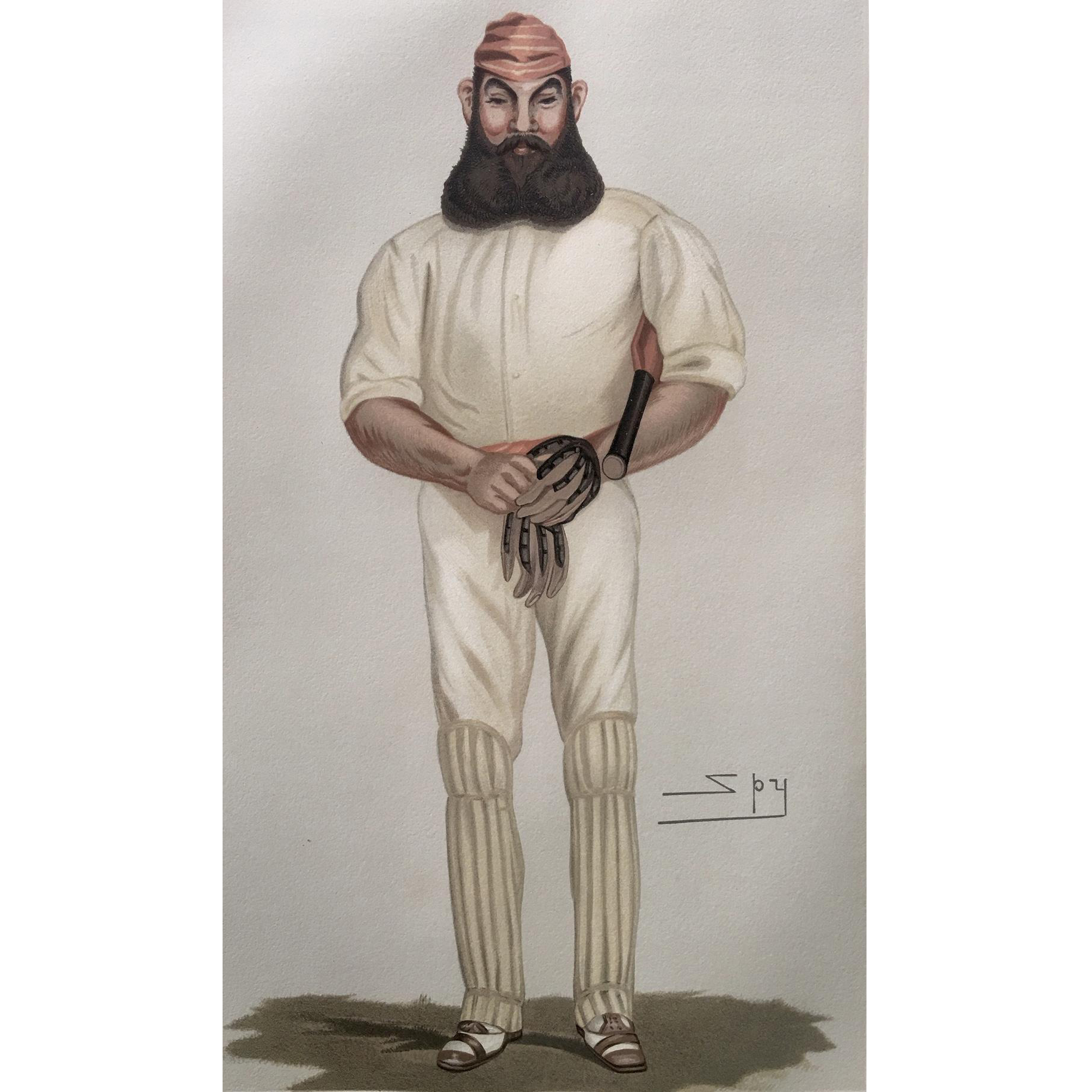 1877 Original Vanity Fair / SPY Cricket Print - W.G. Grace